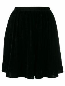 Mes Demoiselles high-waist flared mini skirt - Black