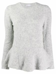Red Valentino peplum knitted sweater - Grey