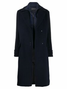 Emporio Armani oversized wool coat - Blue