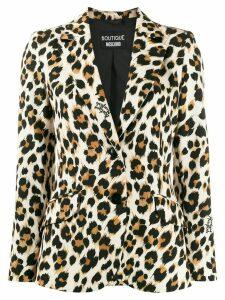 Boutique Moschino leopard print blazer - Black