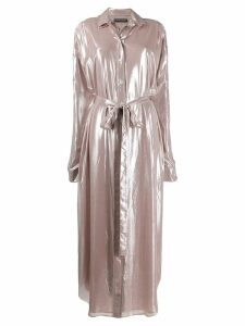 Y/Project Disco shirt dress - PINK