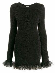 Saint Laurent tulle trimmed dress - Black