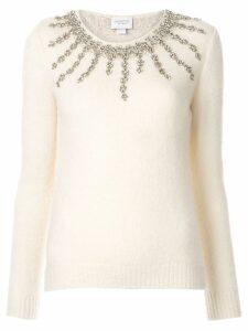 Giambattista Valli embellished fitted sweater - White