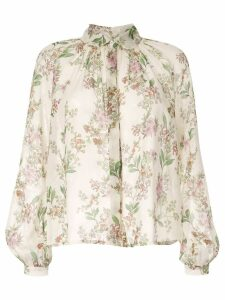 Giambattista Valli floral embroidered blouse - Neutrals
