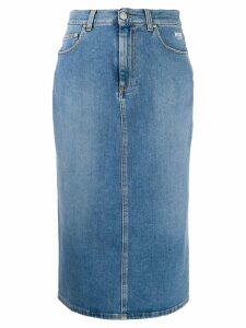 MSGM high-waist denim skirt - Blue