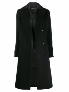 Emporio Armani oversized wool coat - Black