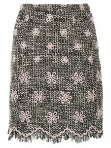 Giambattista Valli floral embroidered skirt - Black
