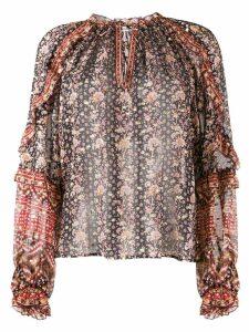 Ulla Johnson printed long sleeve blouse - Neutrals