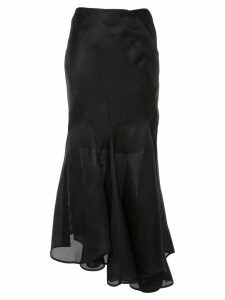 Nina Ricci asymmetric flared skirt - Black