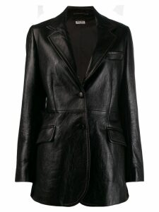 Miu Miu leather blazer - Black