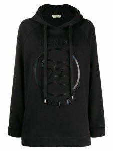 Fendi FF Karligraphy embossed hoodie - Black