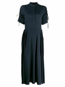 Cédric Charlier drawstring dress - Blue