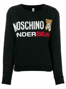 Moschino printed logo bear sweatshirt - Black