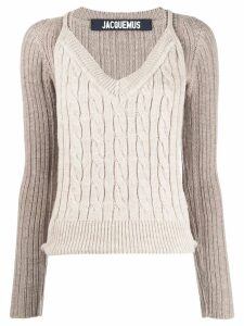 Jacquemus layered style knitted jumper - Neutrals