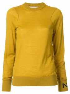 Nina Ricci long-sleeve fitted top - Yellow