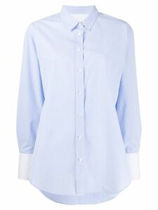 Closed buttoned loose shirt - Blue