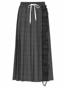 Miu Miu Prince of Wales checked skirt - Grey