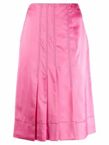 Marni silk effect pleated skirt - Pink
