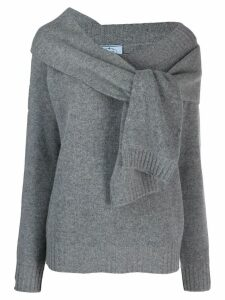 Prada tie sleeve cardigan - Grey