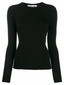 Diane von Furstenberg slim-fit long-sleeve T-shirt - Black