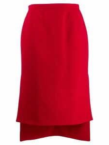 Nº21 high low hem skirt - Red