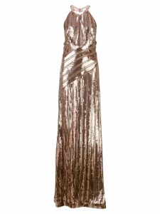 Galvan flared sequin gown - Gold