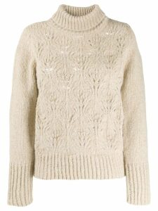 Snobby Sheep turtleneck boxy-fit jumper - Neutrals