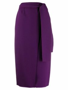 Rochas Wrap midi skirt - Purple