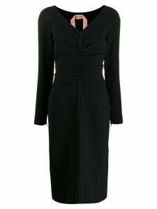 Nº21 ruched midi dress - Black