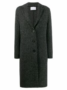 Harris Wharf London herringbone buttoned coat - Grey