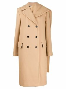 MSGM double-breasted coat - Neutrals