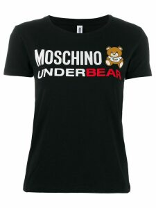 Moschino logo bear printed T-shirt - Black