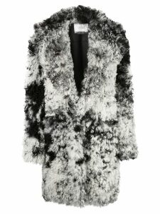 Common Leisure oversized shearling coat - Black