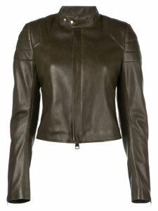 Bottega Veneta ribbed panels cropped jacket - Green