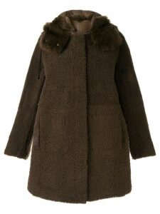 Yves Salomon shearling button coat - Brown