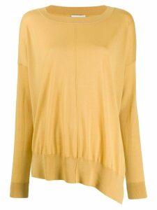Closed boat neck sweatshirt - Yellow