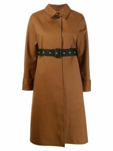 Mackintosh ROSLIN Brown Bonded Wool & Mohair Single Breasted Trench