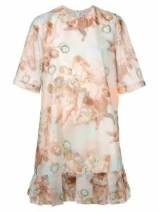 Karen Walker Azure angel print dress - Multicolour