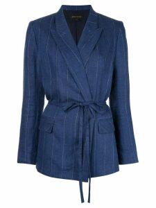 Karen Walker Mariana belted blazer - Blue