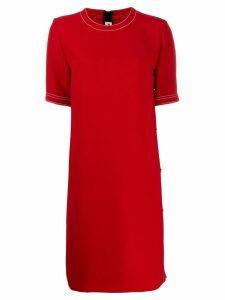 Marni side popper dress - Red