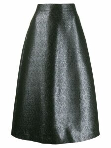 Odeeh shimmery midi skirt - Silver