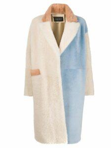 Cara Mila Khala shearling coat - Neutrals