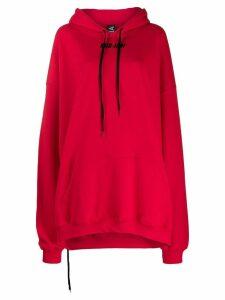 Mia-Iam boxy logo print hoodie - Red