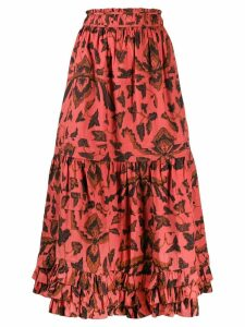 Ulla Johnson ruffled midi skirt - PINK