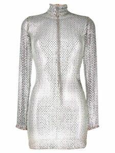 Alessandra Rich crystal embellished dress - 1039 Red-Crystal