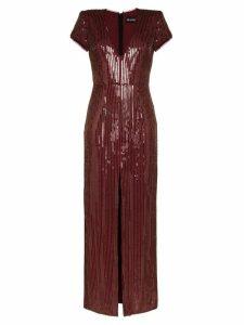 Haney Alessia sequin maxi dress - Gold