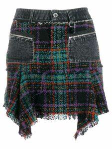 Diesel asymmetric tweed skirt - Black