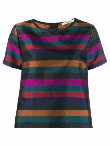 Odeeh striped pattern T-shirt - Black