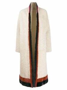 Cara Mila Keila shearling reversible coat - White