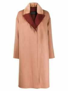 Cara Mila Lena oversized cashmere coat - Neutrals